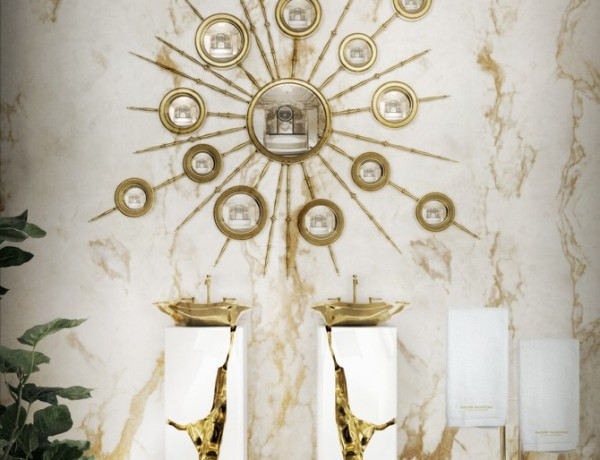 Marble Bathroom Designs to Inspire You. To see more Luxury Bathroom ideas visit us at www.luxurybathrooms.eu #luxurybathrooms #homedecorideas #bathroomideas @BathroomsLuxury Marble Bathroom Designs to Inspire You Marble Bathroom Designs to Inspire You 8 lapiaz freestand apollo mirror maison valentina HR 600x460
