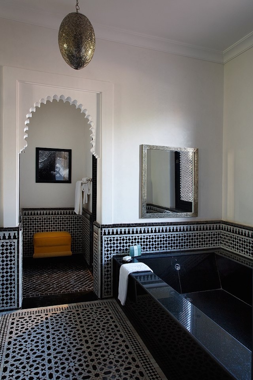 moroccan bathroom ideas 10 eye catching and luxurious black and white bathroom ideas 207
