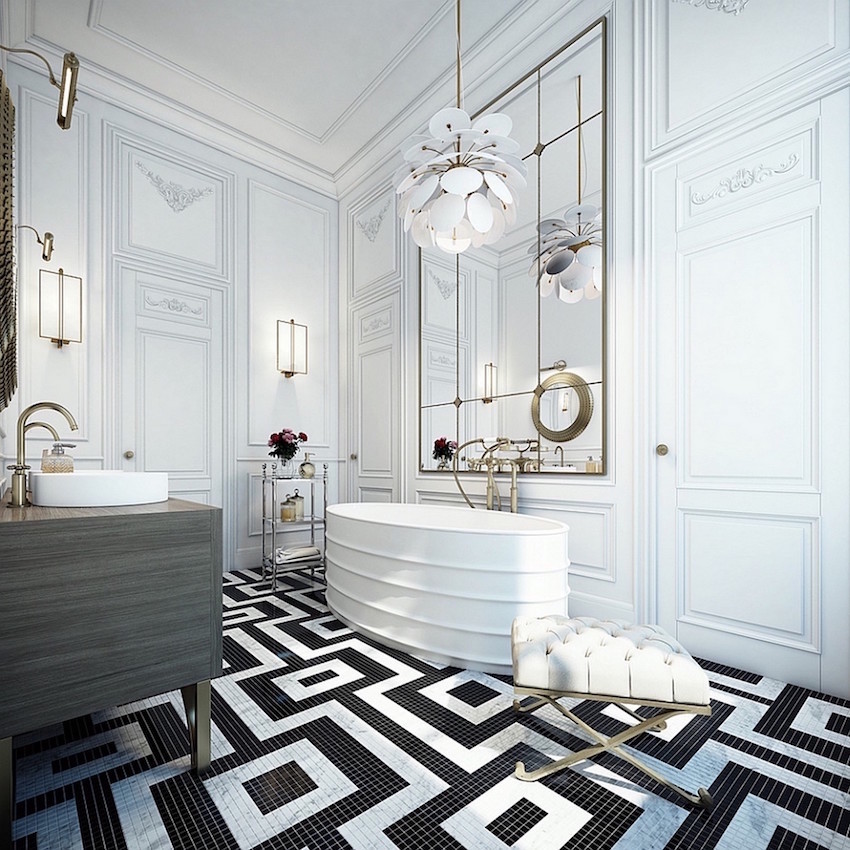 10 Luxury White Master Bathrooms You