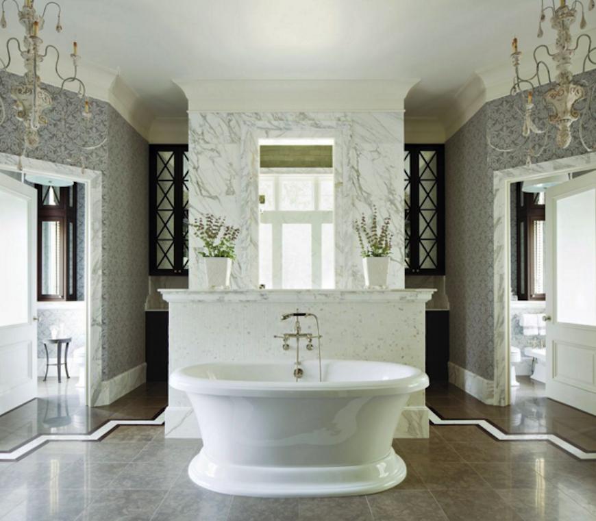 Master Bath With Freestanding Tub | o2 Pilates