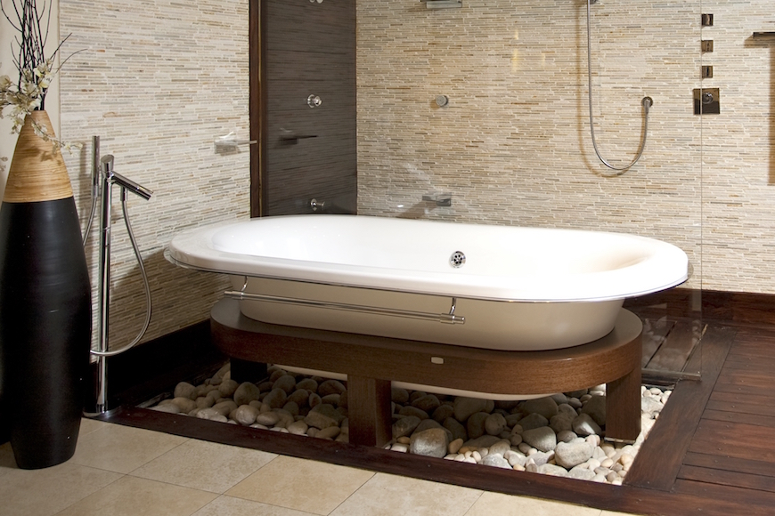 Unique Bathroom Remodeling Ideas elegant and luxury bathroom - amidug