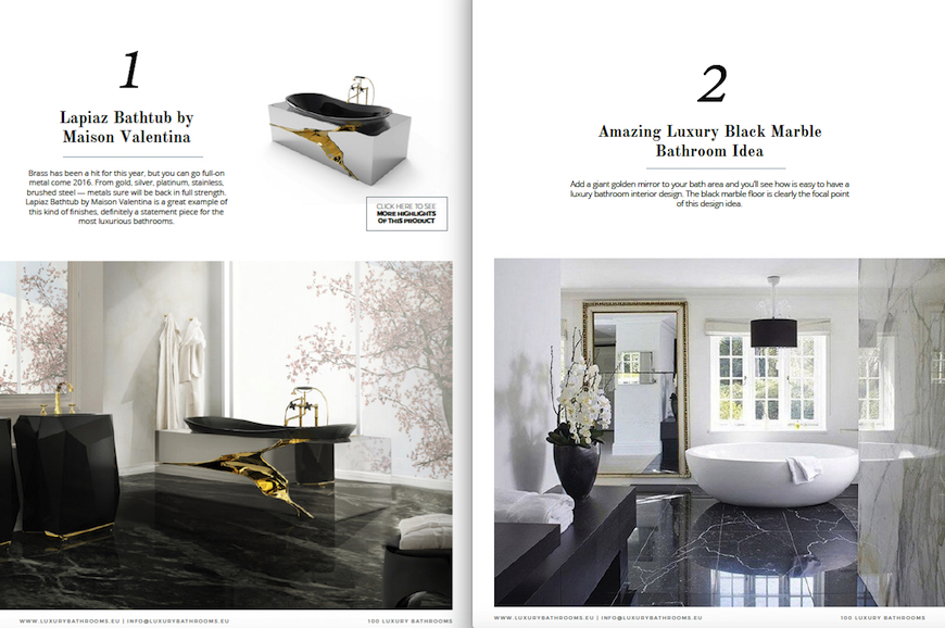 """Get Inspired With the Free e-Book """"100 Must-See Luxury Bathroom Ideas"""" ➤To see more Luxury Bathroom ideas visit us at www.luxurybathrooms.eu #luxurybathrooms #homedecorideas #bathroomideas @BathroomsLuxury"""