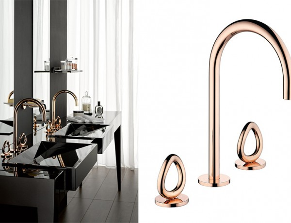 Luxury Bathrooms: Rose Gold is design trend ➤To see more Luxury Bathroom ideas visit us at www.luxurybathrooms.eu #luxurybathrooms #homedecorideas #bathroomideas @BathroomsLuxury