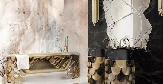 10 Fabulous Mirror Ideas to Inspire Luxury Bathroom Designs ➤To see more Luxury Bathroom ideas visit us at www.luxurybathrooms.eu #luxurybathrooms #homedecorideas #bathroomideas @BathroomsLuxury