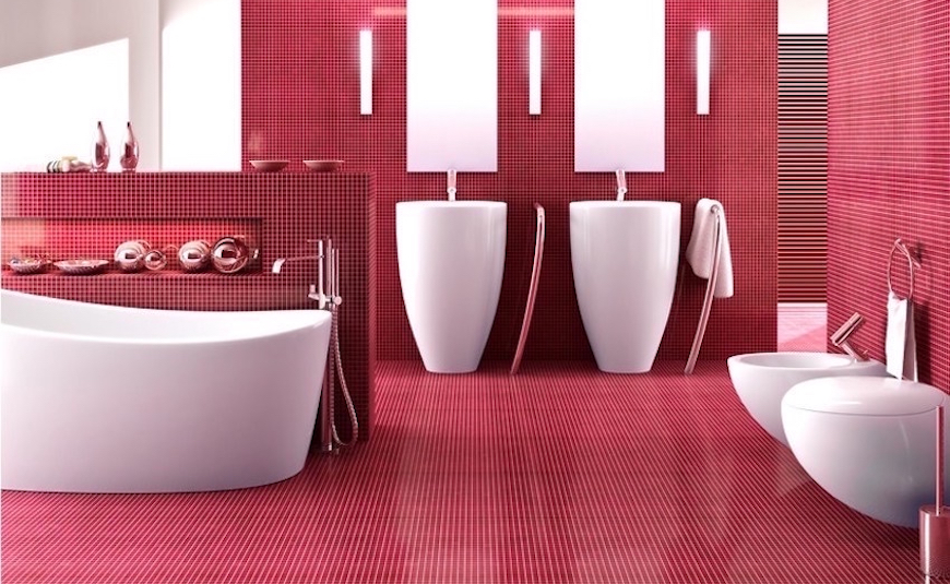 10 Smashing Bold Colorful Bathrooms That You Will Covet