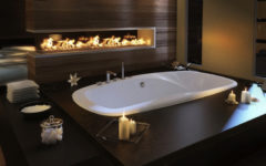 How to Spruce Up Luxury Bathrooms with Fireplaces ➤To see more Luxury Bathroom ideas visit us at www.luxurybathrooms.eu #luxurybathrooms #homedecorideas #bathroomideas @BathroomsLuxury