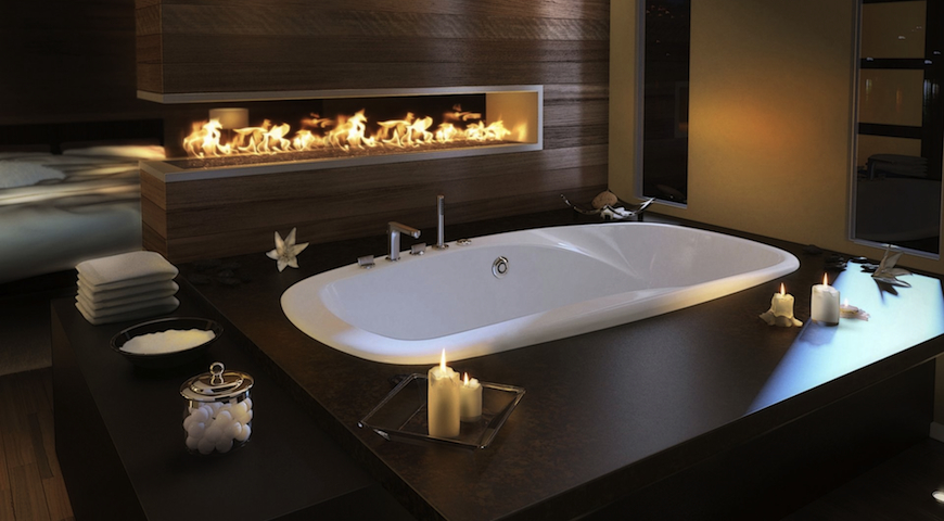 How to Spruce Up Luxury Bathrooms with Fireplaces