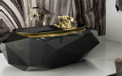 stunning black bathtub Luxury Bathrooms: Stunning Black bathtub Ideas to Inspire You diamond bathtub 4 240x150