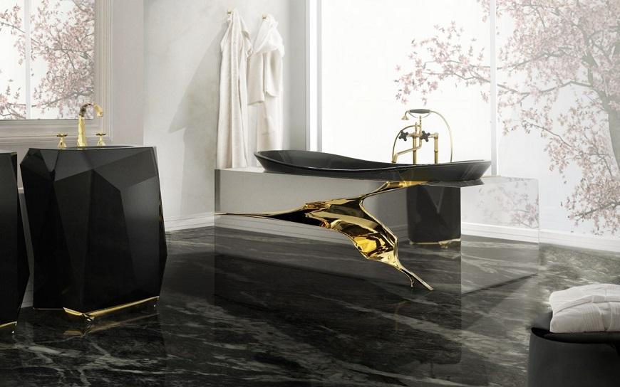 ad 100 list AD 100 List 2017: Bathroom Décor by Top Interior Designers (Part 2) 7 lapiaz bathtub diamond freestand maison valentina HR1 e1442413308252