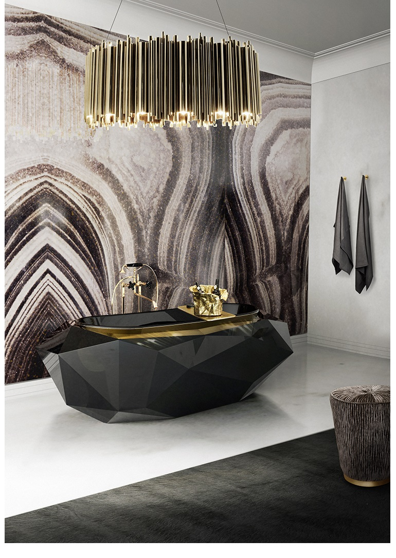 MAISON ET OBJET 2017: TOP 7 LUXURY BATHROOM EXHIBITORS ad 100 list AD 100 List 2017: Bathroom Décor by Top Interior Designers (Part 1) diamond bathtub matheny suspension maison valentina