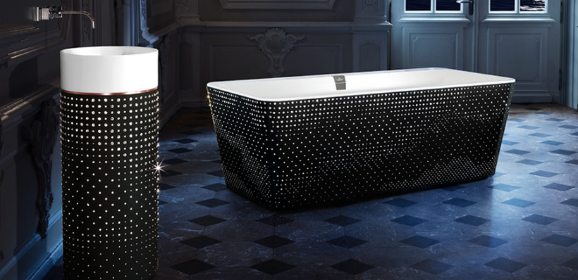 Fill Your Luxury Bathroom With Crystal Bling With Villeroy & Boch ➤To see more ideas visit us at www.luxurybathrooms.eu #bathroom #homedecorideas #bathroomideas @BathroomsLuxury