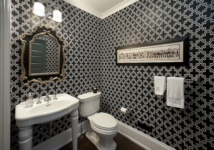 explore unique modern bathrooms in black and white