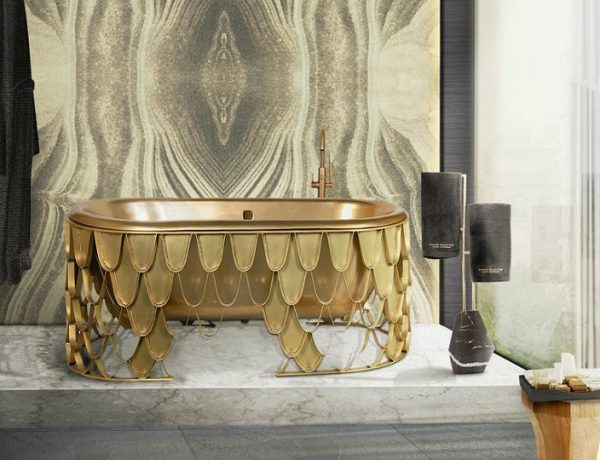 luxury bathroom How To Decorate Your Luxury Bathroom With Gold feat 600x460