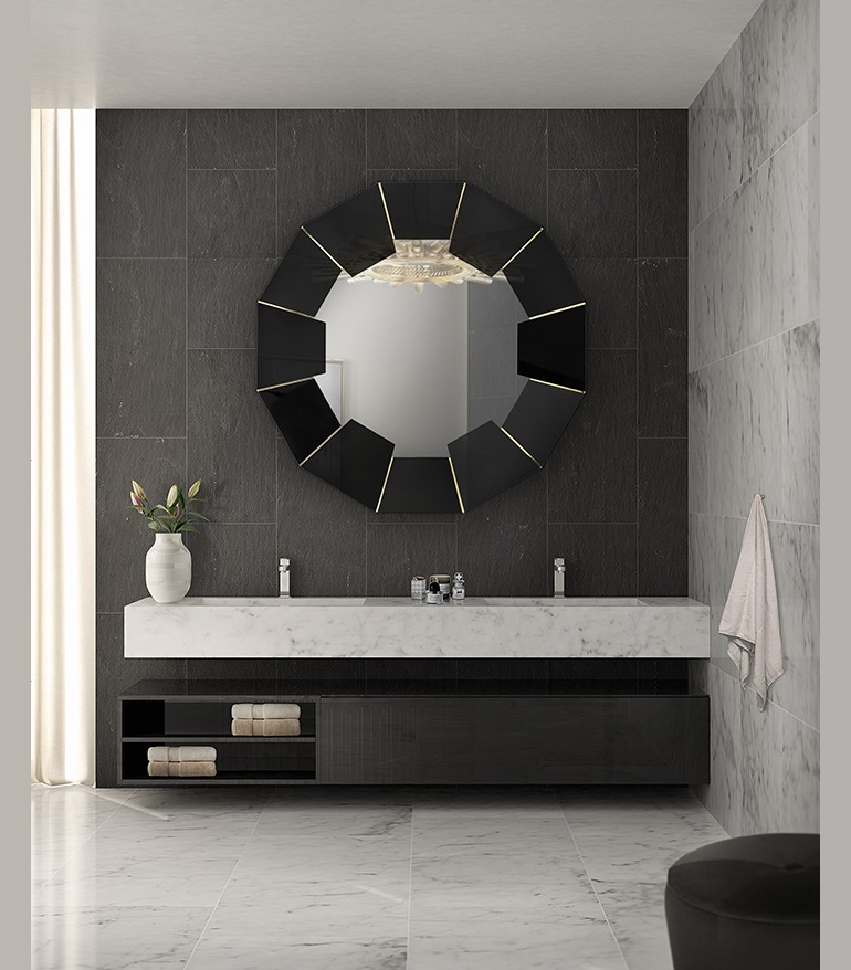 Bathroom Decor Ideas For a Dark And Luxury Interior Design ➤ To see more news about Luxury Bathrooms in the world visit us at http://luxurybathrooms.eu/ #luxurybathroom #interiordesign #homedecor @BathroomsLuxury @bocadolobo @delightfulll @brabbu @essentialhomeeu @circudesign @mvalentinabath @luxxu @covethouse_ Bathroom Decor Ideas Bathroom Decor Ideas For a Dark And Luxury Interior Design Bathroom Decor Ideas For a Dark And Luxury Interior Design 1