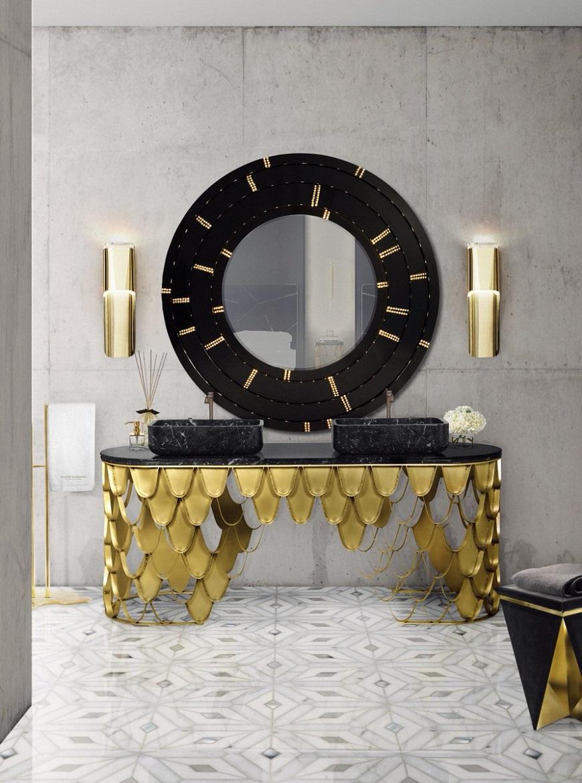 impressive black and gold decor ideas for luxury bathrooms