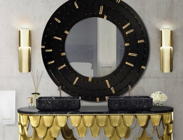 luxury bathrooms Impressive Black And Gold Decor Ideas For Luxury Bathrooms feat 12 600x460