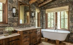 10 Beautiful Rustic Bathrooms To Inspire You Today ➤ To see more news about Luxury Bathrooms in the world visit us at http://luxurybathrooms.eu/ #luxurybathrooms #interiordesign #homedecor @BathroomsLuxury @bocadolobo @delightfulll @brabbu @essentialhomeeu @circudesign @mvalentinabath @luxxu @covethouse_
