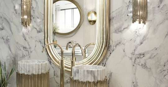 How To Add Glamour To Luxury Bathrooms With Gold Decor Ideas ➤ To see more news about Luxury Bathrooms in the world visit us at http://luxurybathrooms.eu/ #luxurybathroom #interiordesign #homedecor @BathroomsLuxury @bocadolobo @delightfulll @brabbu @essentialhomeeu @circudesign @mvalentinabath @luxxu @covethouse_