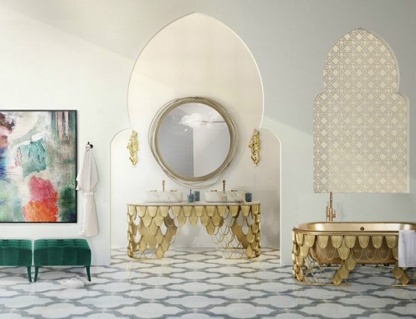 Be Inspired By Beautiful Moroccan Bathroom Decor Ideas ➤ To see more news about Luxury Bathrooms in the world visit us at http://luxurybathrooms.eu/ #luxurybathrooms #interiordesign #homedecor @BathroomsLuxury @bocadolobo @delightfulll @brabbu @essentialhomeeu @circudesign @mvalentinabath @luxxu @covethouse_ Moroccan Bathroom Decor Ideas Be Inspired By Beautiful Moroccan Bathroom Decor Ideas feat 1 600x460