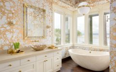 gold and white luxury bathroom How To Get A Gold And White Luxury Bathroom Interior Design featlu 240x150