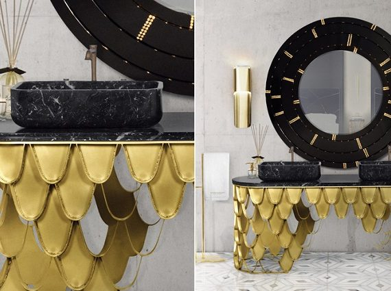 Exquisite Wall Mirrors To Enhance Your Luxury Bathroom Interior Design ➤ To see more news about Luxury Bathrooms in the world visit us at http://luxurybathrooms.eu/ #luxurybathrooms #interiordesign #homedecor @BathroomsLuxury @bocadolobo @delightfulll @brabbu @essentialhomeeu @circudesign @mvalentinabath @luxxu @covethouse_