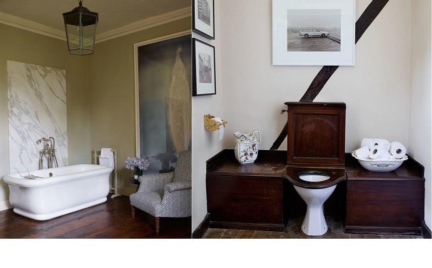 Luxury bathroom ideas inspired by claudia schiffer 39 s tudor for Tudor bathroom ideas