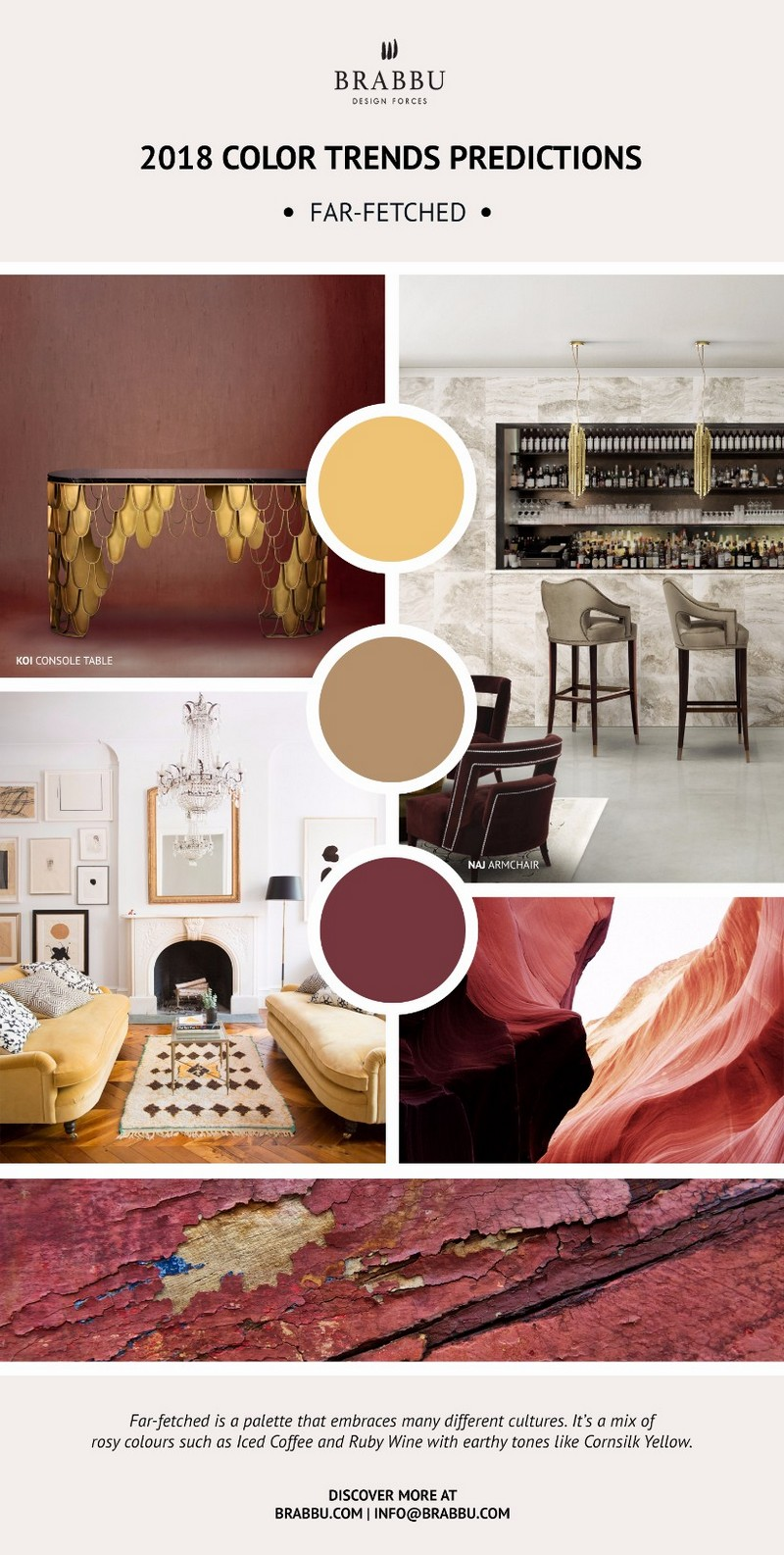 Pantone 2018 Color Trends For Your Next Design Project ➤ To see more news about Luxury Bathrooms in the world visit us at http://luxurybathrooms.eu/ #luxurybathrooms #interiordesign #homedecor @BathroomsLuxury @bocadolobo @delightfulll @brabbu @essentialhomeeu @circudesign @mvalentinabath @luxxu @covethouse_
