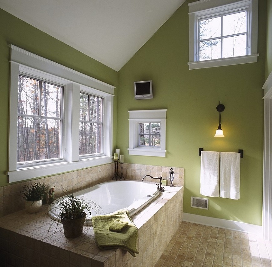 Bathroom Ideas: Olive Green Bathroom Decor Ideas For Your Luxury Bathroom
