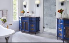 Luxury Bathrooms Selected 30 Bathrooms With Bold Cabinetry 16