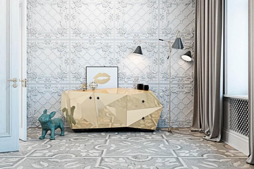 bathroom design Gaze at the Exceptional Bathroom Design of an Italian Countryside Home A Venetian Mirror Dramatically Enhances this Superb Bathroom Design 2
