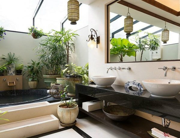 Tropical Decor Ideas To Bring Summer Into Your Contemporary Bathroom #luxurybathroomsbrands #luxurybathroomsdesigns #luxurybathroomsimages #allwhitebathrooms http://luxurybathrooms.eu @mvalentinabath