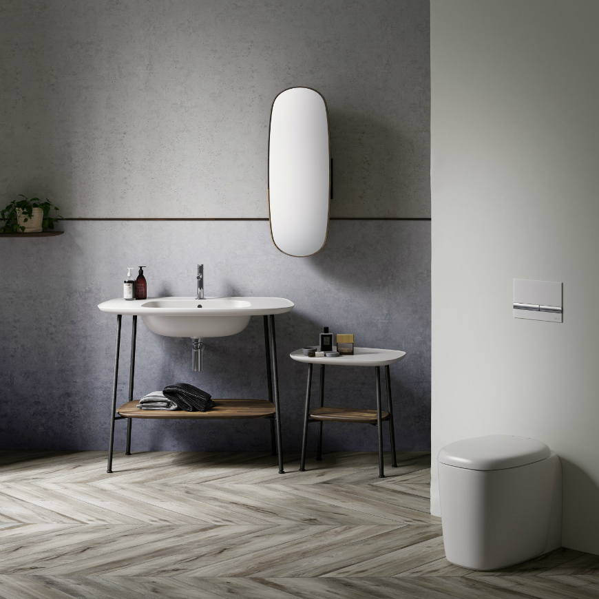 """VitrA's Introduced Its New Living Bathroom Concept at iSaloni 2018 (3) isaloni 2018 VitrA's Introduced Its New """"Living Bathroom"""" Concept at iSaloni 2018 VitrAs Introduced Its New Living Bathroom Concept at iSaloni 2018 3"""