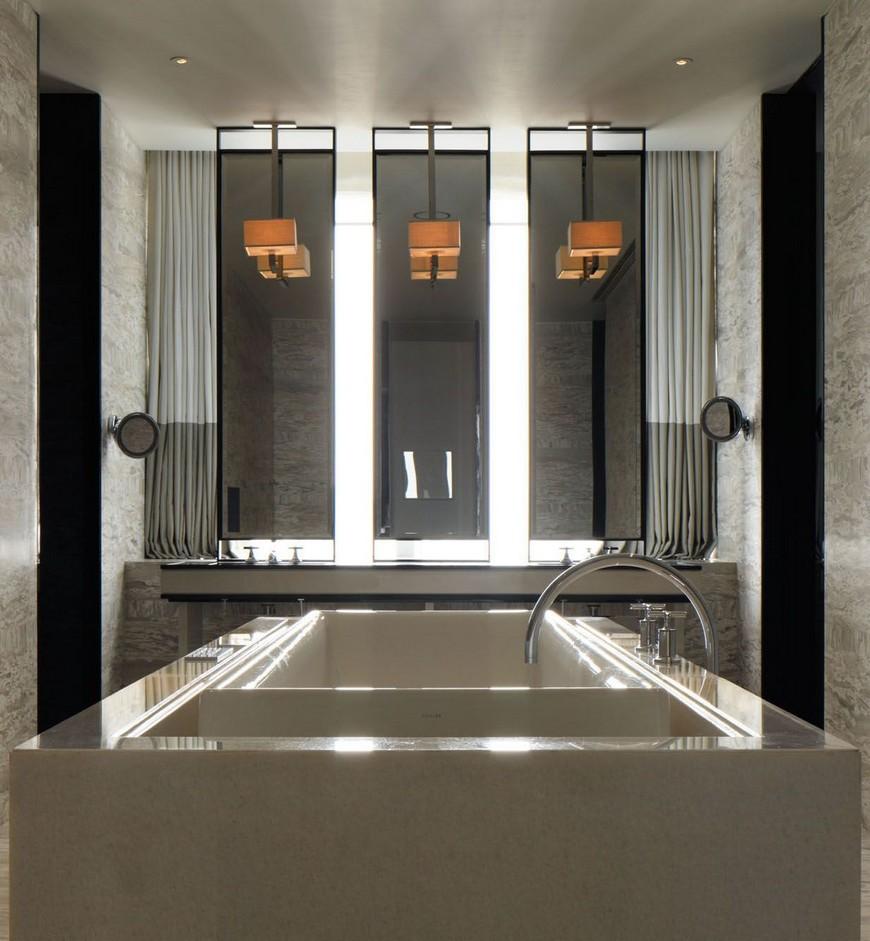 hotel bathroom designs Explore the Most Intriguing Hotel Bathroom Designs by Yabu Pushelberg Explore the Most Intriguing Hotel Bathroom Designs by Yabu Pushelberg 14