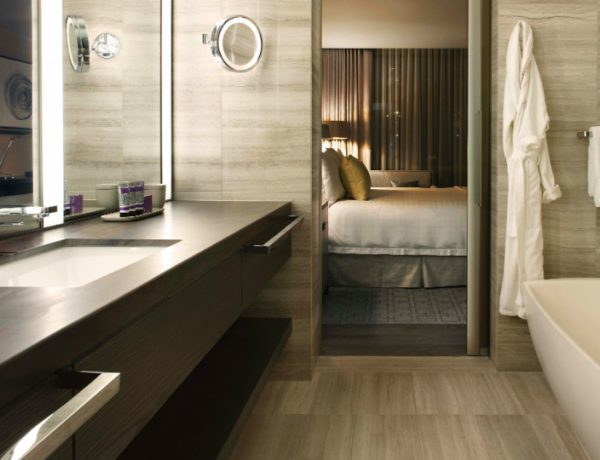 hotel bathroom designs Explore the Most Intriguing Hotel Bathroom Designs by Yabu Pushelberg featured 10 600x460
