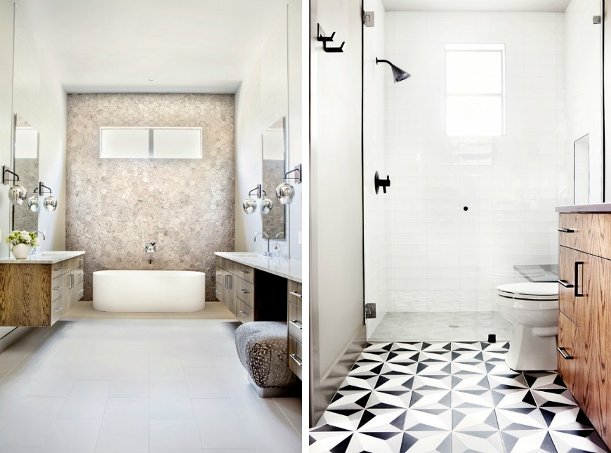 Edgy and Eclectic Bathroom Designs of a Residential Project in Texas 1