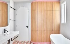 bathroom design This Bathroom Design in a Melbourne Home Features Funky Shades of Pink featured 5 240x150