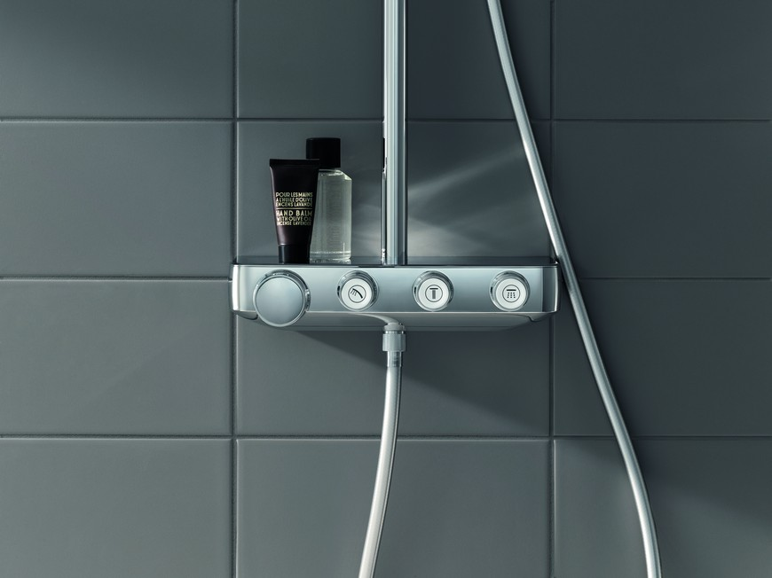 Euphoria Smartcontrol is the New Bathroom Shower System by GROHE