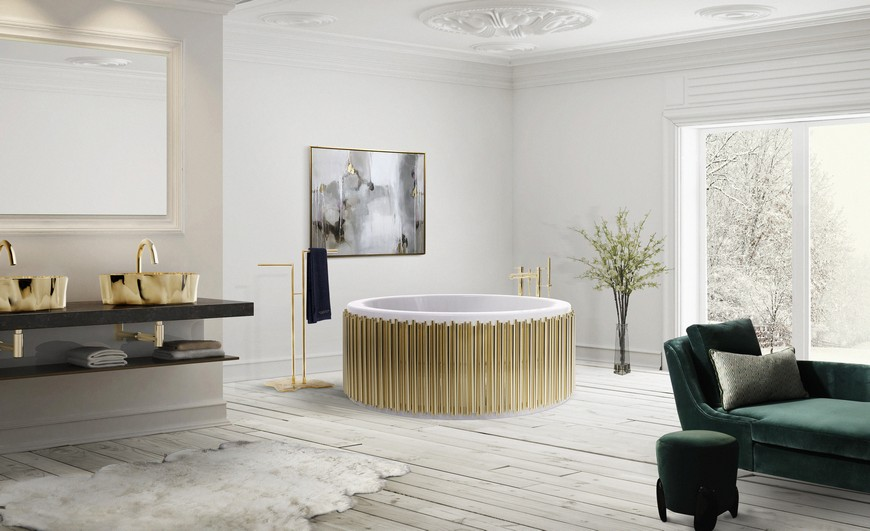 bathroom ideas See Stylish Bathroom Ideas that Have Brass as the Main Decor Detail See Stylish Bathroom Ideas that Have Brass as the Main Decor Detail 1