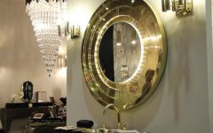 Gold Mirror This Contemporary Gold Mirror Does Wonders for a Bathroom Interior featured 10 240x150