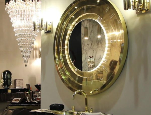 Gold Mirror This Contemporary Gold Mirror Does Wonders for a Bathroom Interior featured 10 600x460