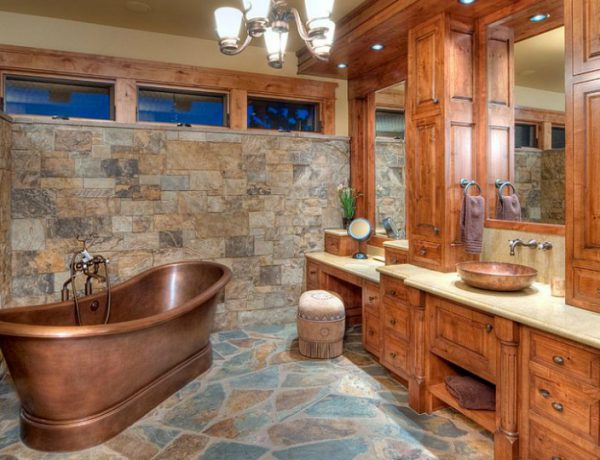 bathroom design Give a Rustic Vibe to Your Bathroom Design with Unique Farmhouse Ideas featured 600x460