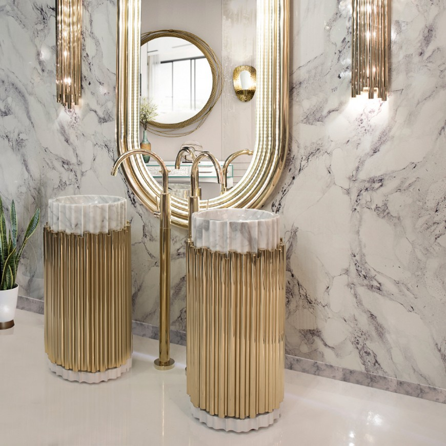 Inspirational Mix-Metals Design Ideas For Your Luxury Bathroom