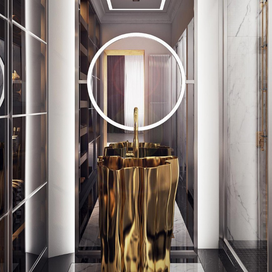 Inspirational Mix-Metals Design Ideas For Your Luxury Bathroom luxury bathroom Inspirational Mix-Metals Design Ideas For Your Luxury Bathroom Inspirational Mix Metals Design Ideas For Your Luxury Bathroom 5
