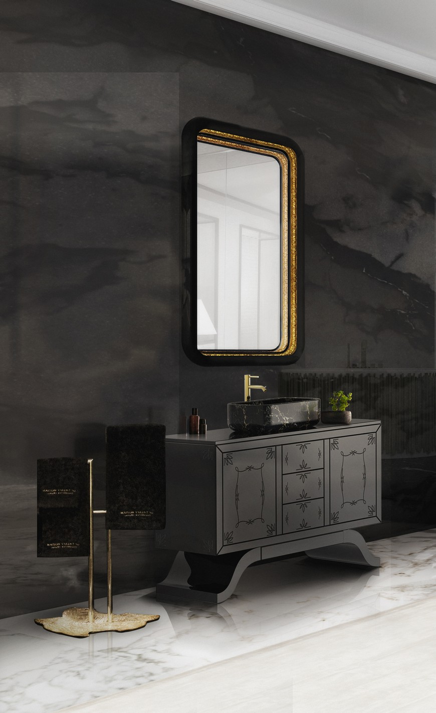 Stunning Matte Black Bathroom Vanities For Your Design Project black bathroom vanities Stunning Matte Black Bathroom Vanities For Your Design Project Stunning Matte Black Bathroom Vanities For Your Design Project 3