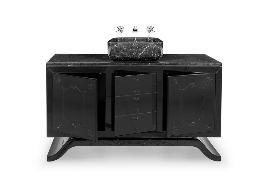 Stunning Matte Black Bathroom Vanities For Your Design Project black bathroom vanities Stunning Matte Black Bathroom Vanities For Your Design Project Stunning Matte Black Bathroom Vanities For Your Design Project 4