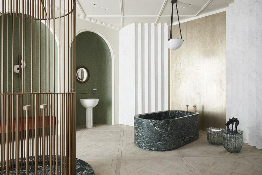Eclectic Bathroom Design Inspirations From AD Intérieurs 2019